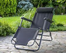 Relaxsessel Set Kopfkissen Sonnenliege Hochlehner Garten Camping Stuhl klappbar