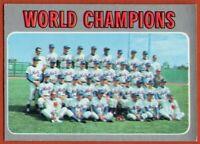 1970 Topps #1 Mets World Champions VG-VGEX+ Nolan Ryan Tom Seaver FREE SHIPPING