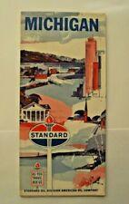 New ListingCa1963 Standard Oil Division American Co, Michigan Road Map - Rand McNally Co.