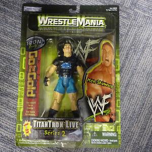 MOC 1999 JAKKS Pacific WWF TitanTron Live Series 2 WrestleMania Ken Shamrock