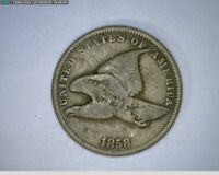 1858 Flying Eagle Cent Penny ( 22-303 9m/o )