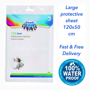 Reusable Waterproof Bed Mattress Protector Baby Cot Pram Crib Liner Sheet 120x50