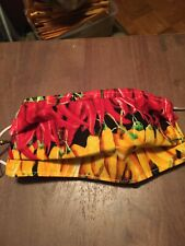 Red & Yellow Hot Peppers Face Mask - Reversible - New