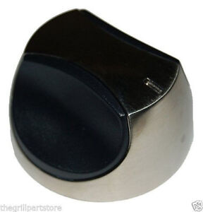Charmglow Gas Grill Replacement Control Knob Silver Face w/rubber handle 02340