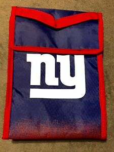 """NY Giants - Soft Cooler/ Lunch Bag 9"""" by Forever Collectables-NEW"""