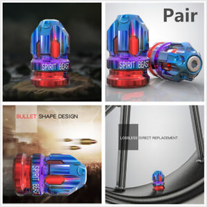 2pc CNC Aluminum Alloy Motorcycle Tire Valve Cap Cover Wheel Tire Creative Decor