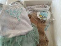 American Girl MIA'S SILVER SKATE DRESS Set ~ Brand NEW in the Box!