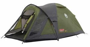 Coleman green darwin 3 plus dome tent, 3000 mm water column, waterproof
