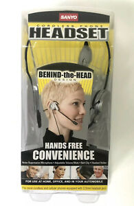 SANYO Cordless Phone Headset Behind The Head Hands Free NEW IN BOX