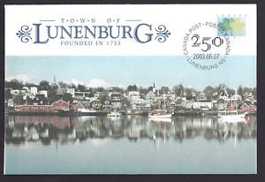 Canada  # S55   Special Event Cover    Lunenburg - 1753     New 2003 Unaddressed