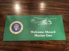 Hmx-1 Marine one presidential Helicopter Vh-3d Safety Card Pamphlet