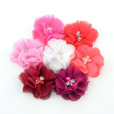 2.3'' Dog Collar Accessory Flower With Rhinestone Party Pet Slide Bows Pack Of 7