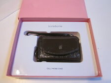 VINTAGE LIZ CLAIBORNE BROWN FAUX LEATHER LADIES CEL PHONE CASE FOR SMALL PHONES