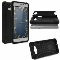 Samsung Galaxy J3 Pro OUTDOOR Schutz Hülle TOP Cover Back Case Carbon Optik Etui