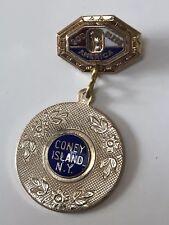 Genuine Vintage 1940's CONEY ISLAND NY Sweetheart Souvenir Lapel Pin NYC