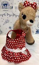 Build a Bear Clarice Rudolph Reindeer Plush Light Sound Dress Christmas Lot Set