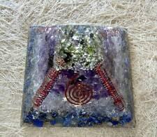STEADY INCOME Orgone Pyramid Amethyst-Lapis Lazuli-Moldavite-Crystal-Pyrite 70MM
