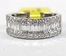 14k Weiss Gold 3.00ct Baguette Smaragd Prinzessin Rund Diamant Statement Ring Jewelry & Watches