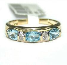 1.29ct Topaz & Diamond ET Band Engagement/Dress Ring 10k Gold ~ NWOT ~ R0015