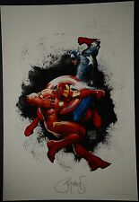Iron Man Captain America Michael Turner Aspen Art Print