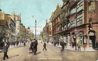 Yorkshire Leeds Briggate 1909 Vintage Postcard 23.12