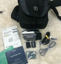 Sony DCR-DVD108 Handycam 40x Zoom DVD Camcorder, Battery Charger & Case, Tested