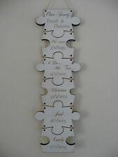 Personalizados Familia signo nombres fechas Rompecabezas De Madera Placa Shabby Casa Jigsaw