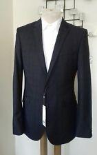 Charcoal Grey Niton Tonal Check Suit Jacket/Blazer BNWT Kin At JL BNWT - 36 Reg