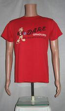 Red DARE Graduate Lion Mascot T-Shirt M NY State Sheriff Distressed Worn Punk