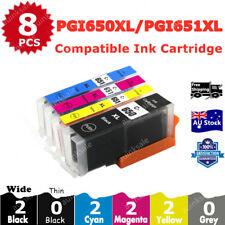 8x Compatible Ink PGI 650XL CLI 651XL For Canon PIXMA MG6360 MG5460 MG75607