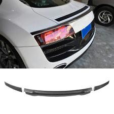 Rear Trunk Spoiler Wing Lip for Audi R8 V8 V10 2008-2015 Carbon Fiber Factory