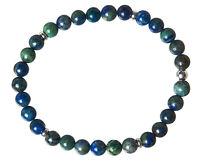 Azurit-Malachit Edelstein-Armband Stretch Perlenarmband D355