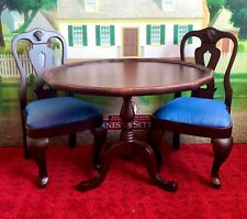 """18"""" American Girl Doll Tilt Top Table Chairs Felicity Merryman Collection"""