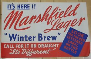 Marshfield Lager Winter Brew, Marshfield, Wisconsin paper sign