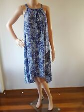 NWT JUST JEANS Ladies Blue White Paisley Maxi Dress Size: 8 RRP: $ 69.95