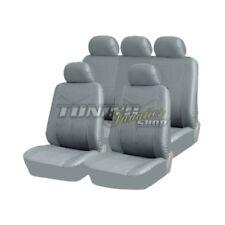 Premium Leder Kunstleder Sitzbezug Sitzbezüge Sitz GRAU SET für viele Fahrzeuge
