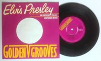 "NM/NM! ELVIS AN AMERICAN TRILOGY SUSPICIOUS MINDS 7"" VINYL 45 RCA GOLDEN GROOVES"