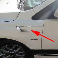 2pc Silver Car Hood Front Side Vent Sticker Universal Decoration Set