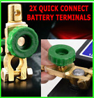 2X Battery Terminals Quick Disconnect Auto Boat Post Off Master Kill Switch Set  <br/> Free Shipping* Brass plated zinc alloy die cast