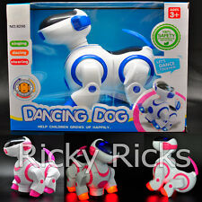 Robot Dog Electronic Toy LED Robotic Walking Pet Puppy Kids Music Light