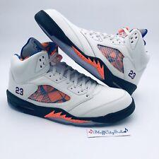 Nike Air Jordan Retro 5 International Flight Sail Blue Orange 136027-148 Size 17