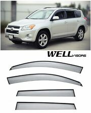 For 06-12 Toyota RAV4 WellVisors Side Window Visors W/ Black Trim