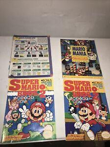 Lot Of Vintage Super Mario Guides ( Super Mario Bros 1&2, Mario Mania, Mario 3)