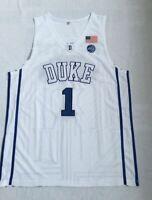 Zion Williamson White #1 Duke Basketball Jersey
