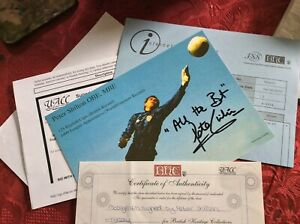 Peter Shilton Signed Photo Card with Certificate of Authenticity