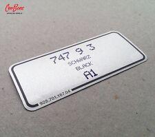 PORSCHE COLOR CODE DECAL 911, 924, 928, 944 (1988 – 1998) sticker silver