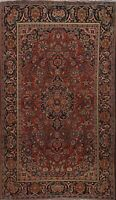 Antique Pre-1900 Floral Ardakan Traditional Area Rug Hand-knotted Oriental 4'x7'