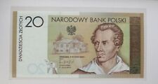 More details for 🍀 🇵🇱 poland. genuine banknote 20 zł 2009, 100% uncirculated in folder