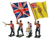 W Britain 43076 Victoria Cross British 57th Regiment Command Set Advancing 54mm