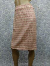 Ann Taylor Loft Straight Skirt Womens Size 10 Career Dusty Rose Cream Textured